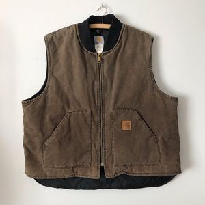 Carhartt Utility Vest in Brown | Lined | 2X